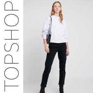 Topshop flatstock gray crewneck sweater sweatshirt